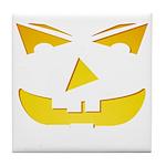 Maniacal Carved Pumpkin Tile Coaster