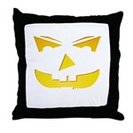 Maniacal Carved Pumpkin Throw Pillow
