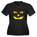 Maniacal Carved Pumpkin Women's Plus Size V-Neck D