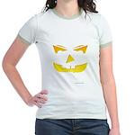 Maniacal Carved Pumpkin Jr. Ringer T-Shirt