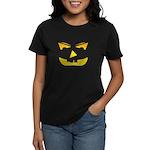 Maniacal Carved Pumpkin Women's Dark T-Shirt