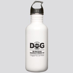 Dog Craps Anywhere Stainless Water Bottle 1.0L