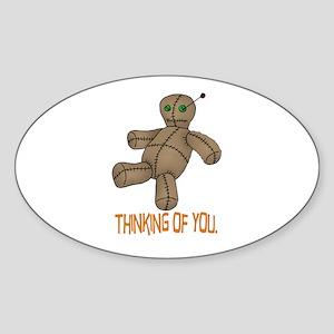 Voodoo Doll Oval Sticker