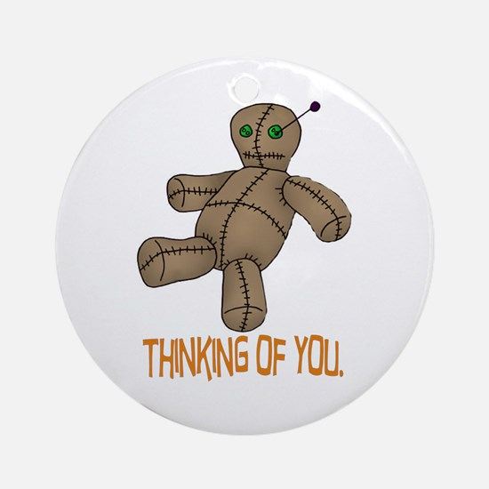Voodoo Doll Ornament (Round)