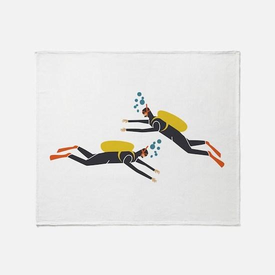 Divers Throw Blanket