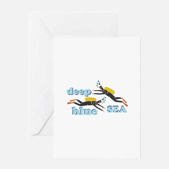 Deep Blue Sea Greeting Cards