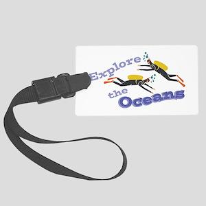 Explore Oceans Luggage Tag