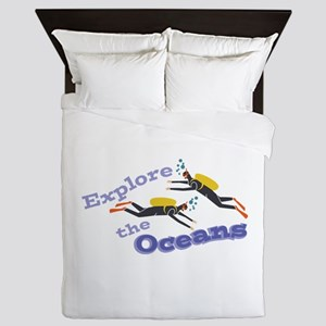 Explore Oceans Queen Duvet