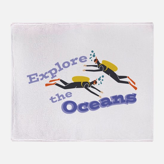 Explore Oceans Throw Blanket