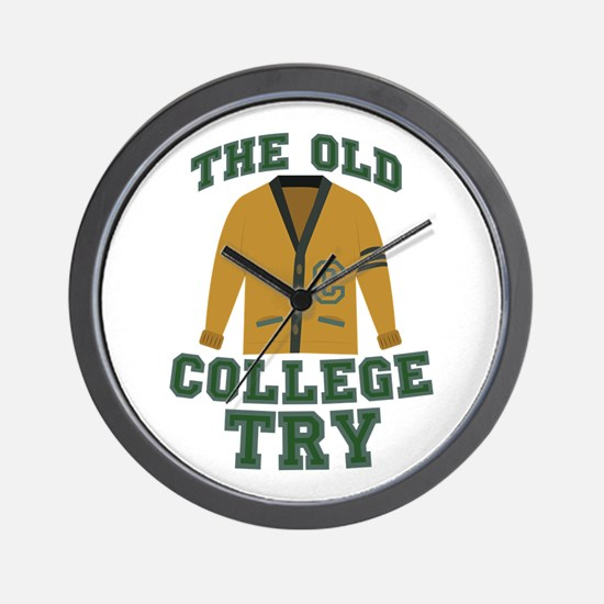 Old College Try Wall Clock