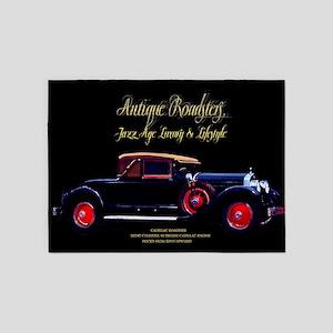 Art Deco Jazz Era Roadsters 5'x7'Area Rug
