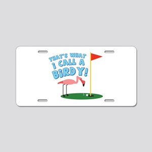 A Birdy Aluminum License Plate