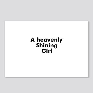 A heavenly Shining Girl Postcards (Package of 8)