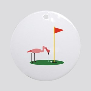 Golf Birdy Round Ornament