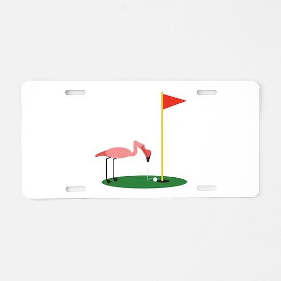 Golf Birdy Aluminum License Plate