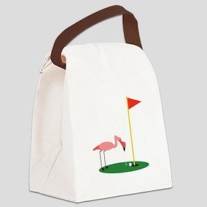 Golf Birdy Canvas Lunch Bag