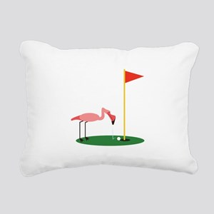 Golf Birdy Rectangular Canvas Pillow