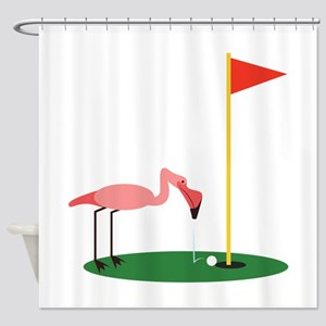 Golf Birdy Shower Curtain