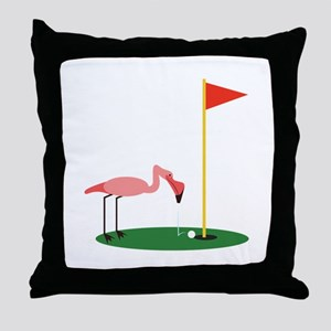 Golf Birdy Throw Pillow
