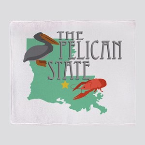 Pelican State Throw Blanket