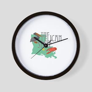Pelican State Wall Clock