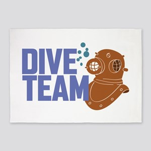Dive Team 5'x7'Area Rug