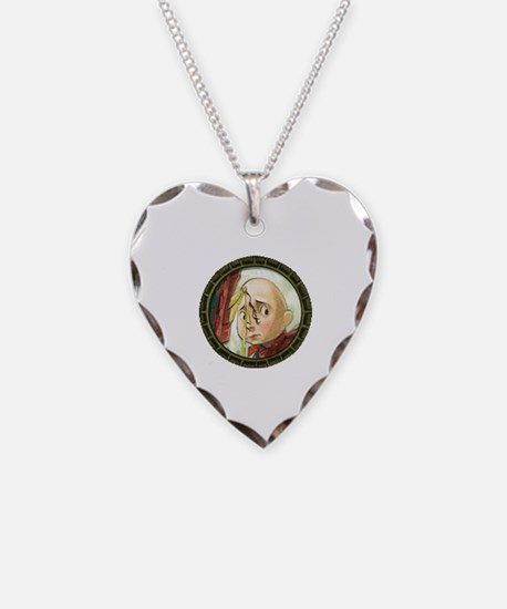 Cute Lemony snicket Necklace Heart Charm