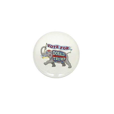 Donald Trump 2016 Elephant President Mini Button