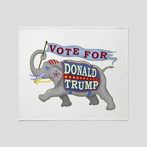 Donald Trump 2016 Elephant President Throw Blanket