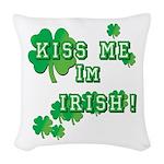 Kiss Me I'm Irish Woven Throw Pillow