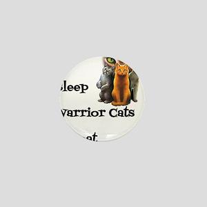Eat Sleep Warrior Cats Repeat Mini Button