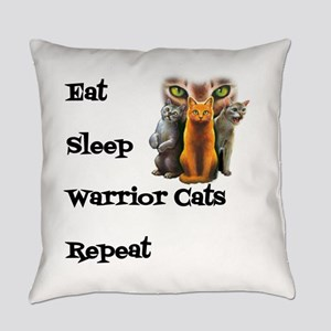 Eat Sleep Warrior Cats Repeat Everyday Pillow