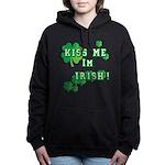 Kiss Me I'm Irish Women's Hooded Sweatshirt