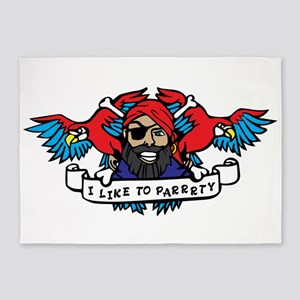Party Animal Pirate 5'x7'Area Rug