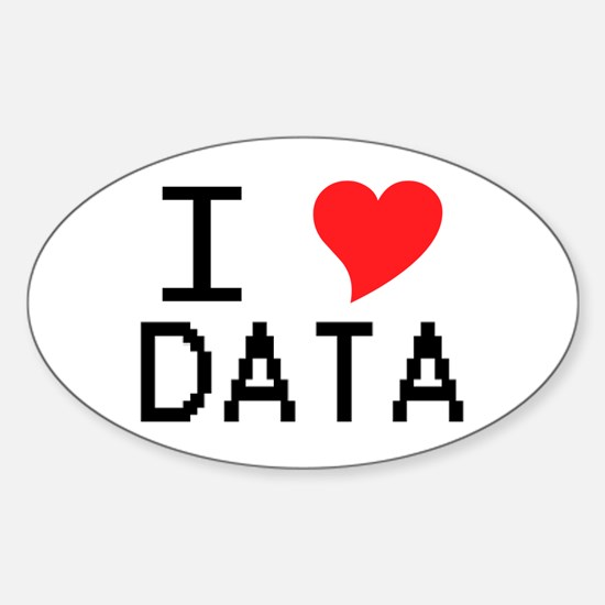 I Heart Data Oval Decal