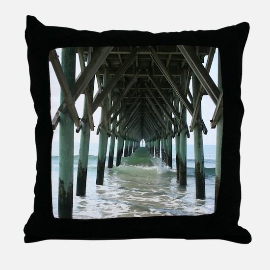 Unique Topsail beach Throw Pillow