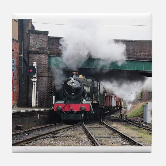 Vintage Steam railway Train at the St Tile Coaster