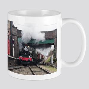 Vintage Steam railway Train at the Station Mugs