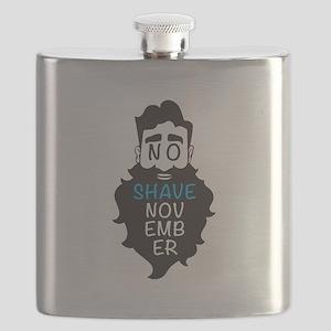 No Shave November Flask