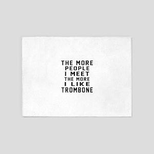 I Like More Trombone 5'x7'Area Rug