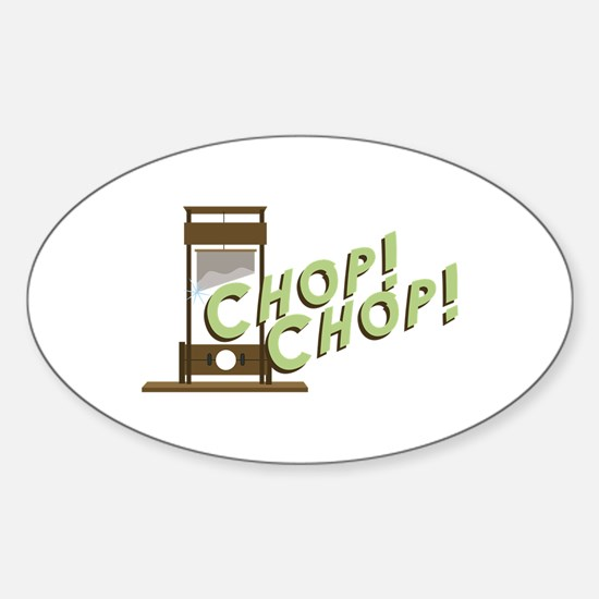 Guillotine Chop Decal