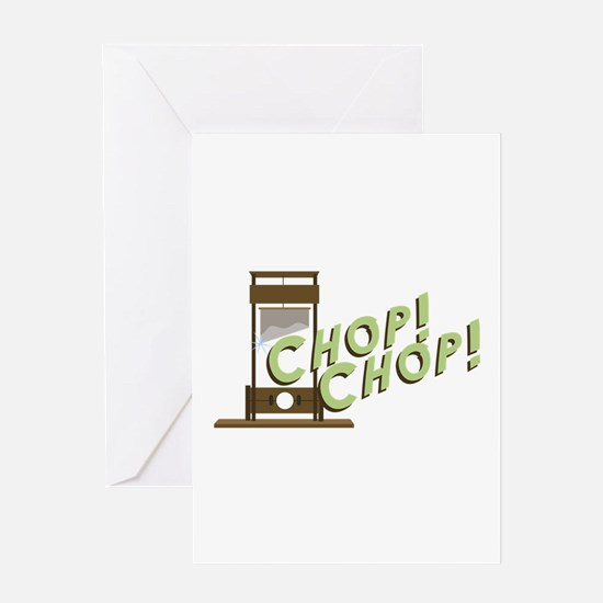 Guillotine Chop Greeting Cards
