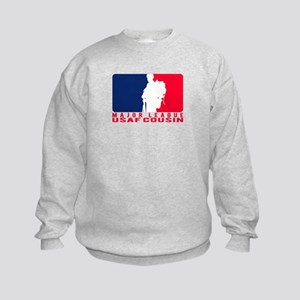 Major League Cousin - USAF  Kids Sweatshirt
