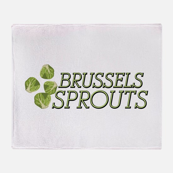 Brussels Sprouts Throw Blanket