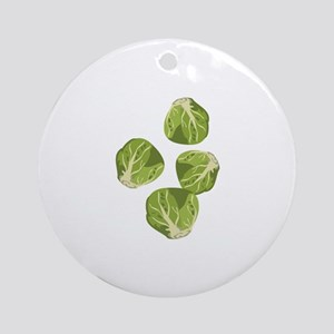 Brussel Sprouts Round Ornament