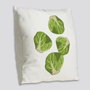Brussel Sprouts Burlap Throw Pillow