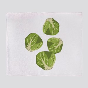 Brussel Sprouts Throw Blanket