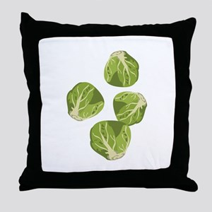 Brussel Sprouts Throw Pillow