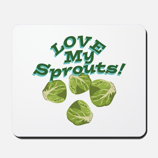 Love My Sprouts Mousepad