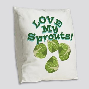 Love My Sprouts Burlap Throw Pillow